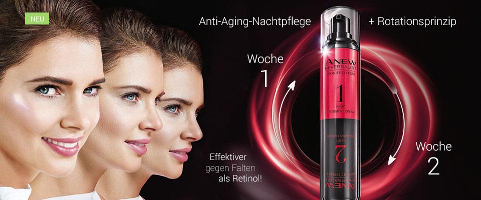 Innovation! Anti-Aging-Nachtpflege mit Rotationsprinzip!