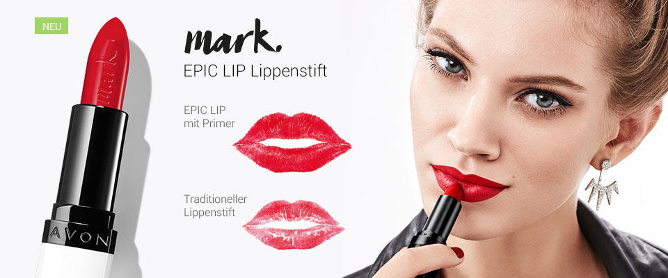 Neu! AVON EPIC LIP Lippenstift - Mehr Farbe mit nur einem Auftrag!