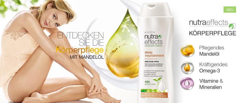 Neu: AVON nutra effects Körperpflegeprodukte!