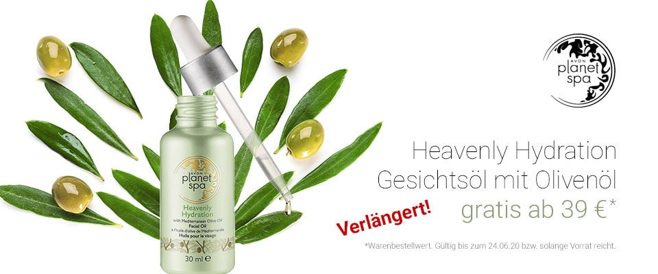 AVON planet spa Heavenly Hydration Gesichtsöl gratis!